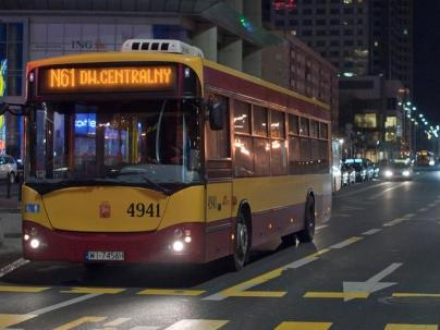Autobus nocny wraca z Targówka / fot. ZTM