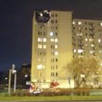 Bardzo groźny pożar w bloku na Wysockiego