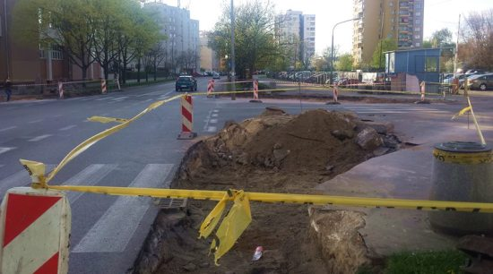 Budowa mini-ronda przy ul. Witebskiej / fot. targowek.info
