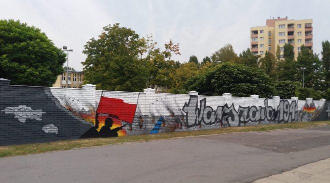 Powstańczy mural w odsłonie z 2016 roku / fot. targowek.info