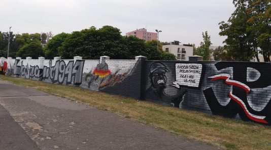 Odtworzony powstańczy mural na murze przy ul. Ossowskiego