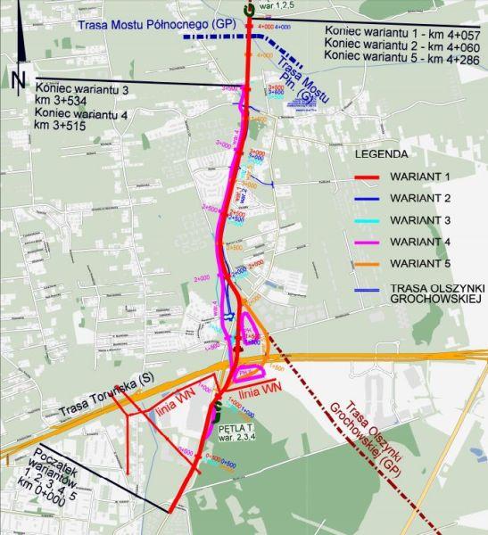 Koncepcja tramwaju na Białołękę / materiały DHV Polska