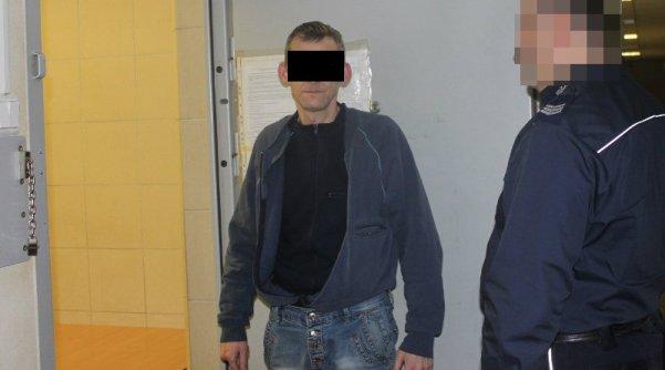 Paweł O. w areszcie / fot. Policja