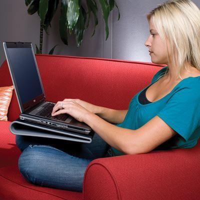image sur support ventile refroidisseur avec 2 ventilateurs pour ordinateurs portables de 15 17