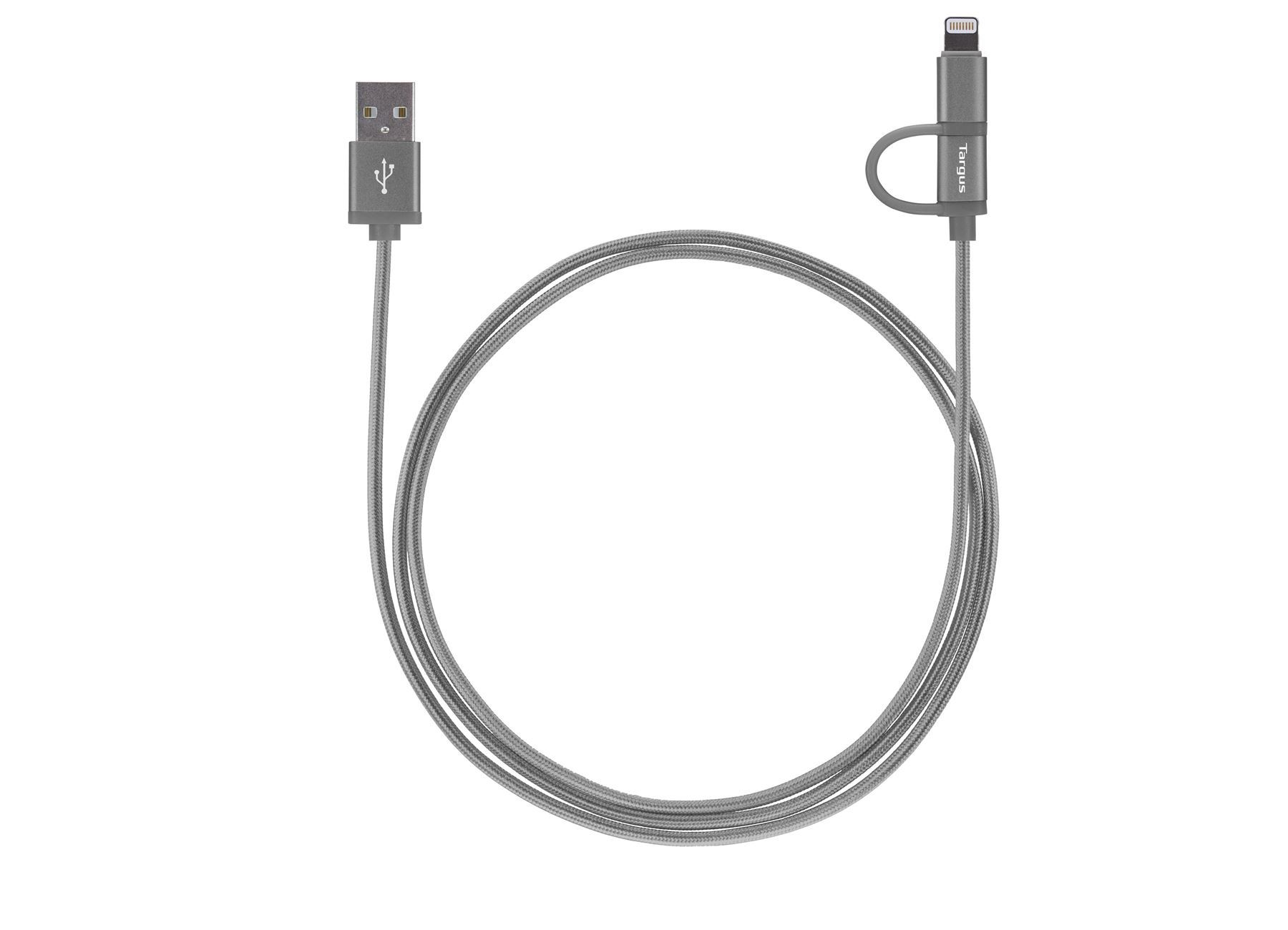Aluminium Series 2 In 1 Lightning Cable Space Gray