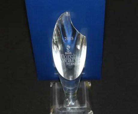 Better Business Bureau Torch Award for Ethics
