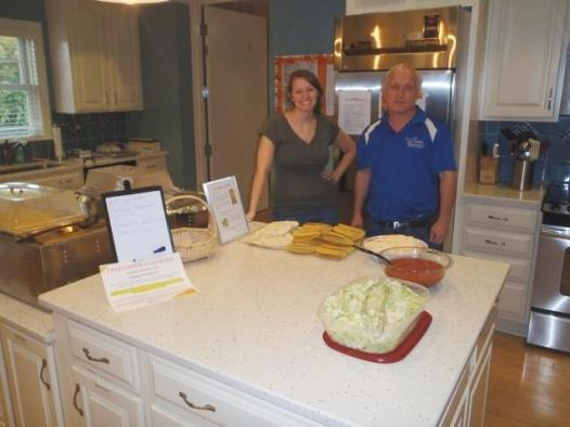 Team Tar Heel makes tacos at the Ronald McDonald House