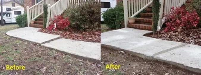 Raise sidewalks that are tripping hazards