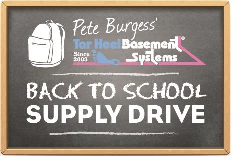 Pete Burgess' Back to School Supply Drive