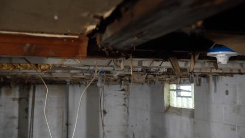 Nasty basement detail