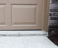 uneven driveway concrete