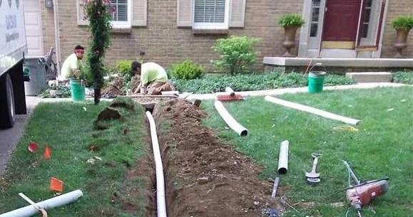 installing exterior drainage