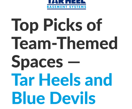 Our Top Picks of Team-Themed Spaces—Tar Heels and Blue Devils