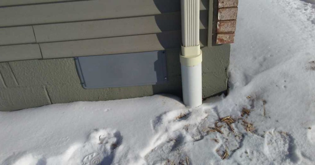 snow near crawl space vent