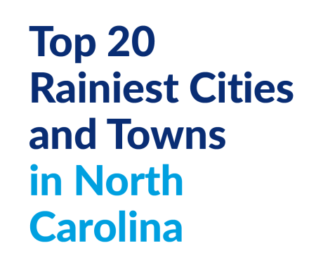 Top 20 Rainiest Cities and Towns in North Carolina