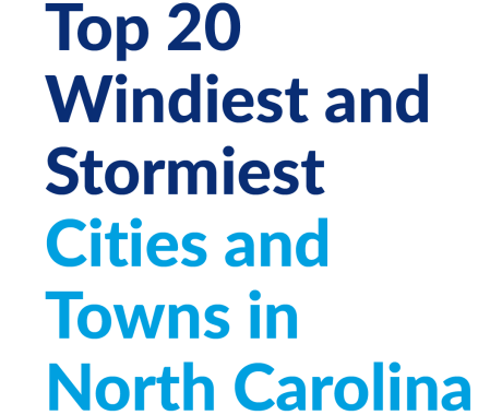 Top 20 Windiest and Stormiest Cities and Towns in North Carolina