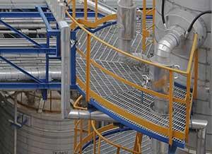 Platform Around Circular Equipment