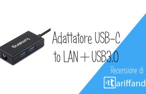 lumsing adattatore usb-c to LAN+USB 3.0