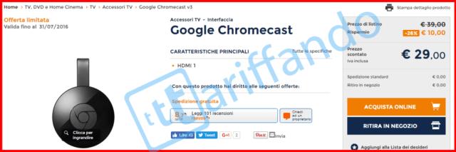 chromecast 29 unieuro