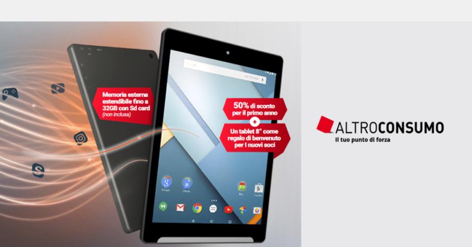 tablet altroconsumo gratis richiedere