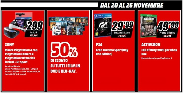 Mediaworld Total Black Friday Dal 20 Al 26 Novembre Tariffando It