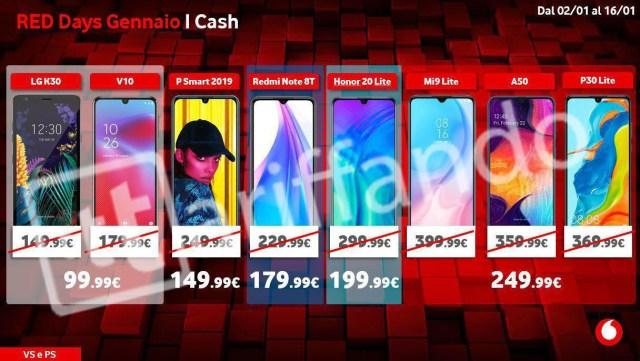 vodafone red days cash