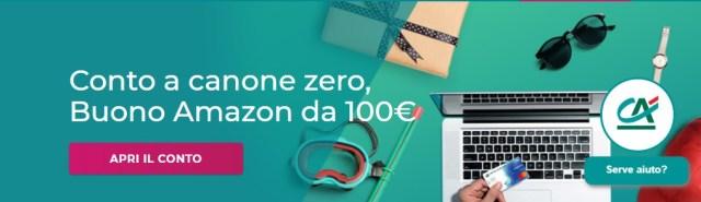 buono amazon 100 euro gratis credit agricole