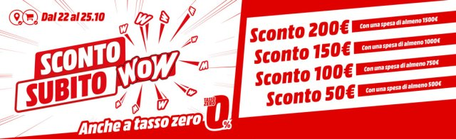 media world sconto subito wow