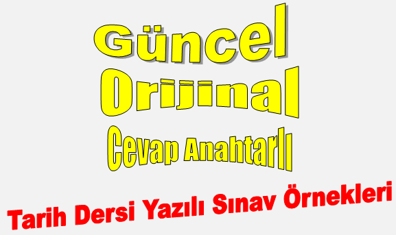 12. Sınıf T.C. İnkılap Tarihi ve Atatürkçülük Dersi 2.Dönem 1.Yazılı (2018-2019)