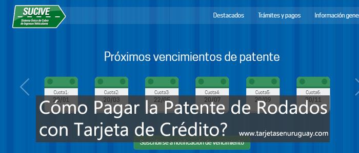 Como Pagar la patente con Tarjeta?