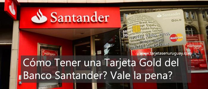 Tarjeta Gold de Santander