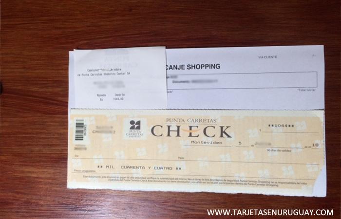 Cheque de canje de billetes sumaclub Santander