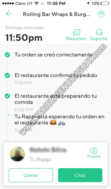 Comunicar con Rappi Uruguay