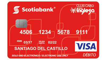 Tarjeta de débito Scotiabank