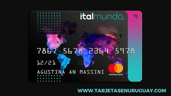 Tarjeta de crédito Italmundo internacional