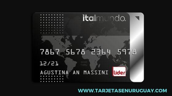 Tarjeta de crédito Italmundo Plata