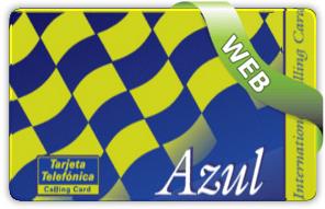 tarjeta telefónica Azul
