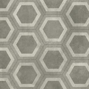 honeycomb tile grey aquarelle floor
