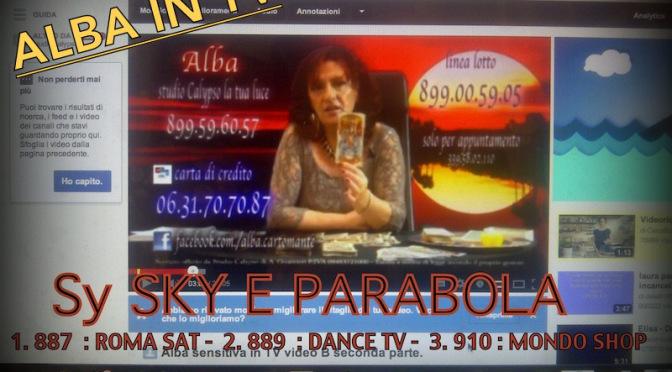 Alba Sensitiva in TV – video A prima parte