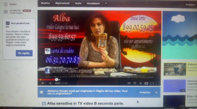 Alba Sensitiva in TV – video A seconda parte