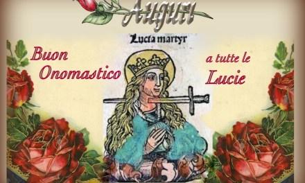 Buon Onomastico Lucia e Lucio