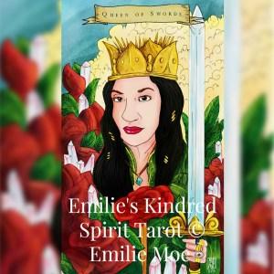Queen Of Swords, Emilie's Kindred Spirits Tarot, Luz Quiñones