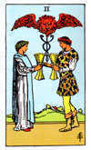 Tarot Minor Arcana card: Two of Cups