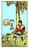 Tarot Minor Arcana card: Four of Cups