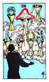 Tarot Minor Arcana card: Seven of Cups