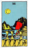 Tarot Minor Arcana card: Eight of Cups