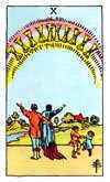 Tarot Minor Arcana card: Ten of Cups