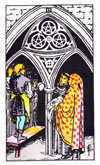 Tarot Minor Arcana card: Three of Pentacles
