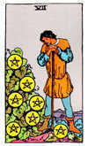 Tarot Minor Arcana card: Seven of Pentacles