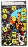 Tarot Minor Arcana card: Ten of Pentacles